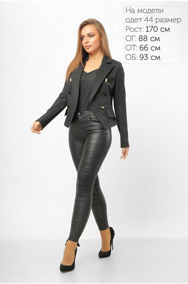 Піджак з ґудзиками в смужку Чорний