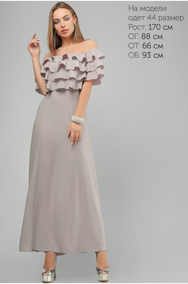 Сукня з воланами Сіра