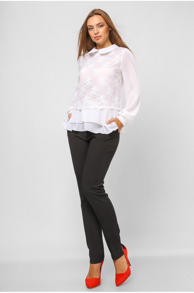 Блуза з воланами Біла