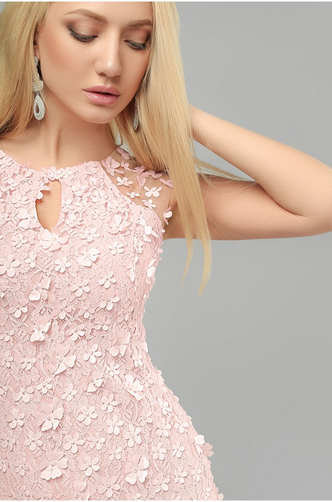 """Сукня вечірня """"рибка"""" Рожева"""