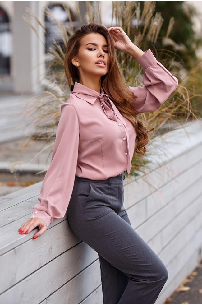 Блуза з ремінцем-краваткою Фрез