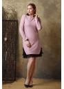 Сукня з люрексом і мереживом Рожева Батал