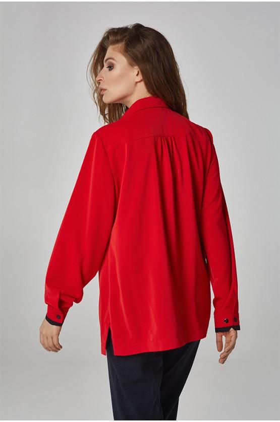 Блуза класична Красна Plus Size