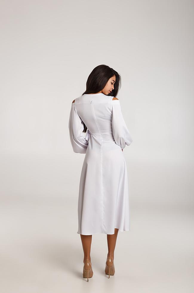 Сукня вечірня міді Біла