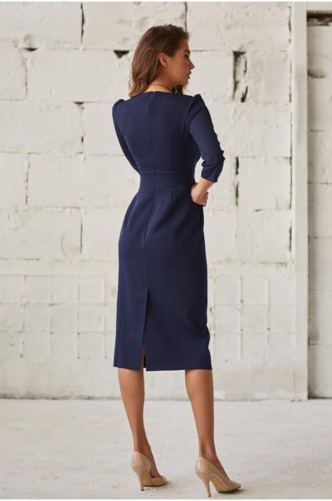 Сукня приталена класична Синя