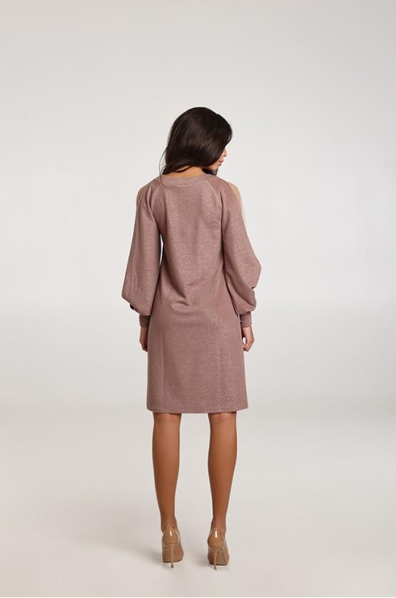Сукня з ажурними рукавами Капучино