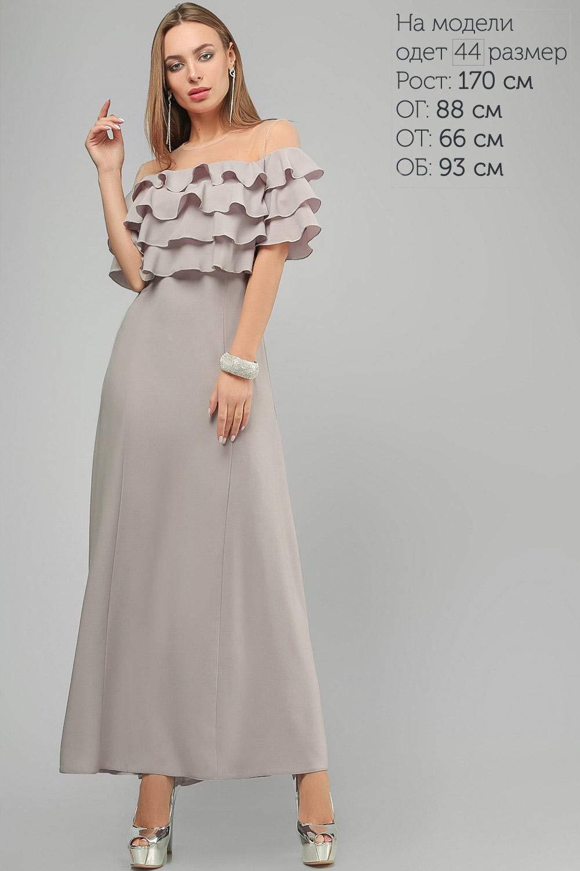 Сукня з воланами Сіра Lipar