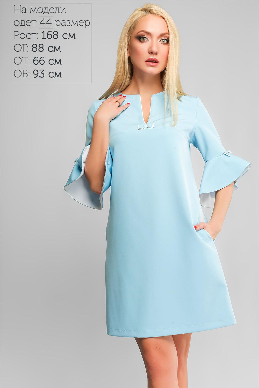 Сукня Алін Блакитна Батал Lipar