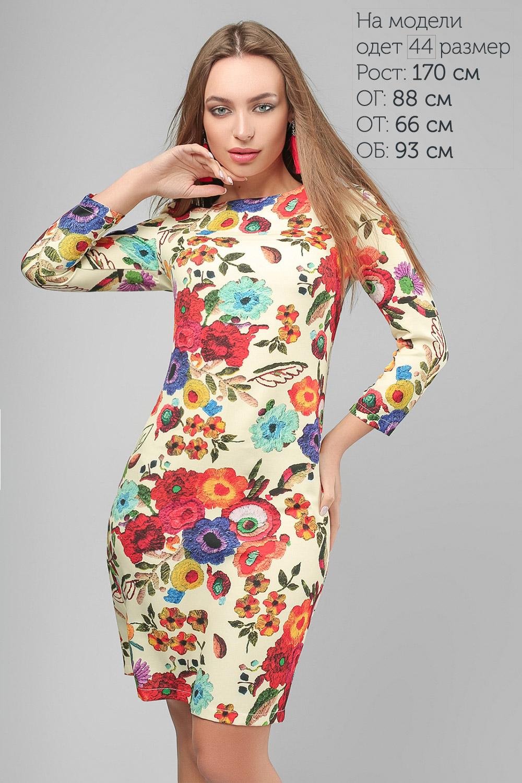 Сукня в квітковий принт Жовта Lipar