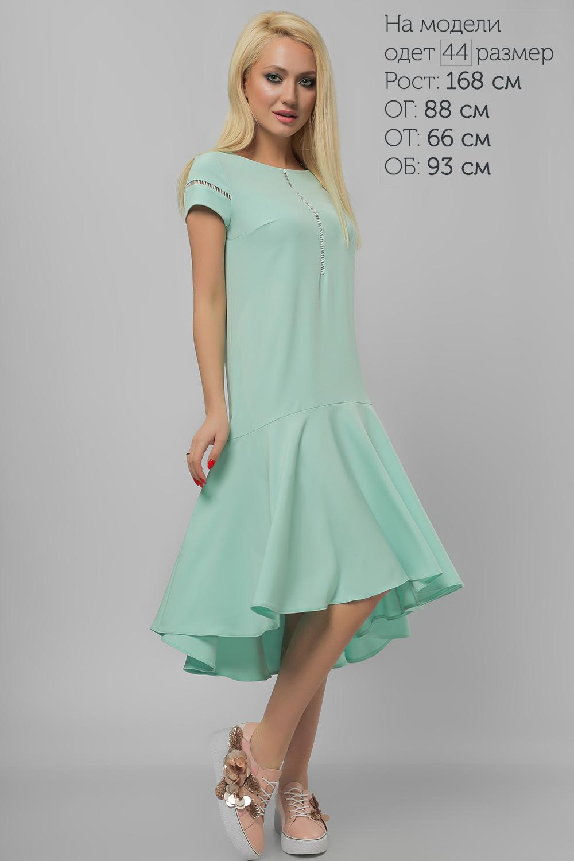 Платье с асимметричным воланом Lipar