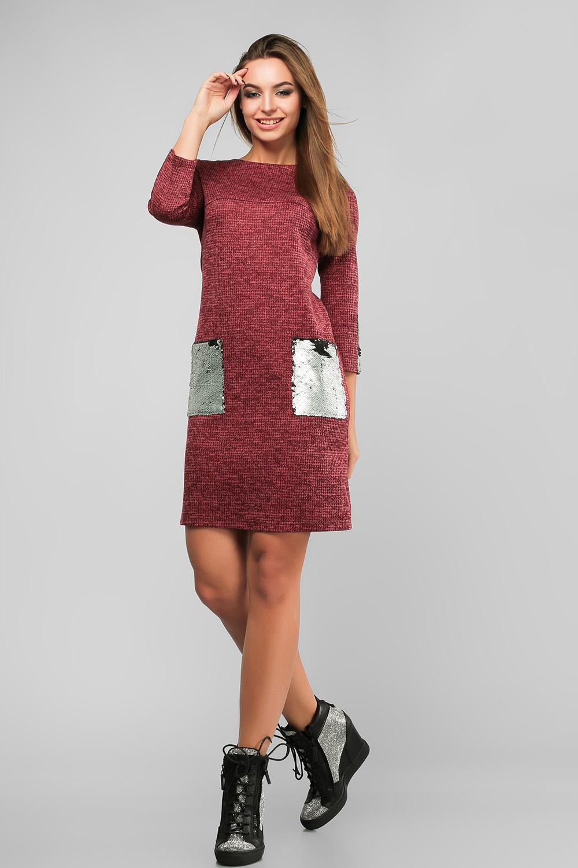 Сукня з паєтками Червона Батал Lipar