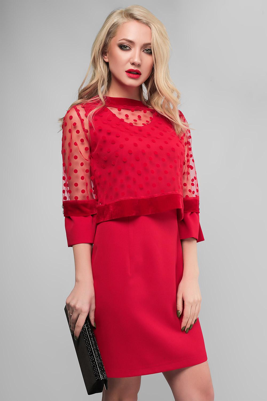 Сукня з накидкою Червона Lipar