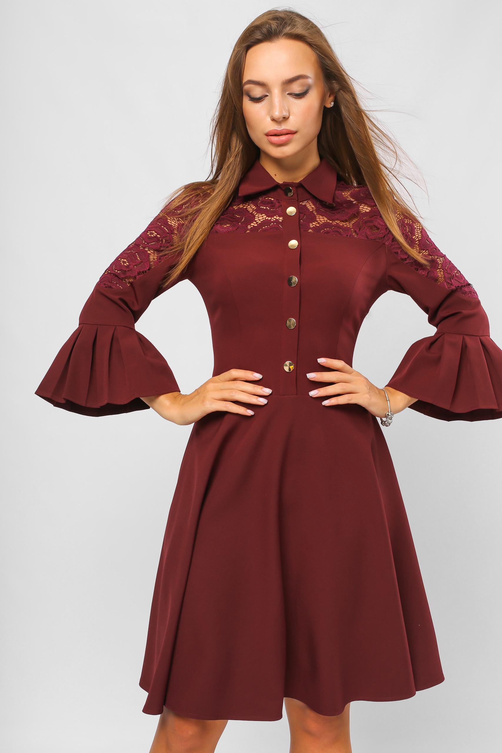 Сукня на кнопках Марсала Lipar