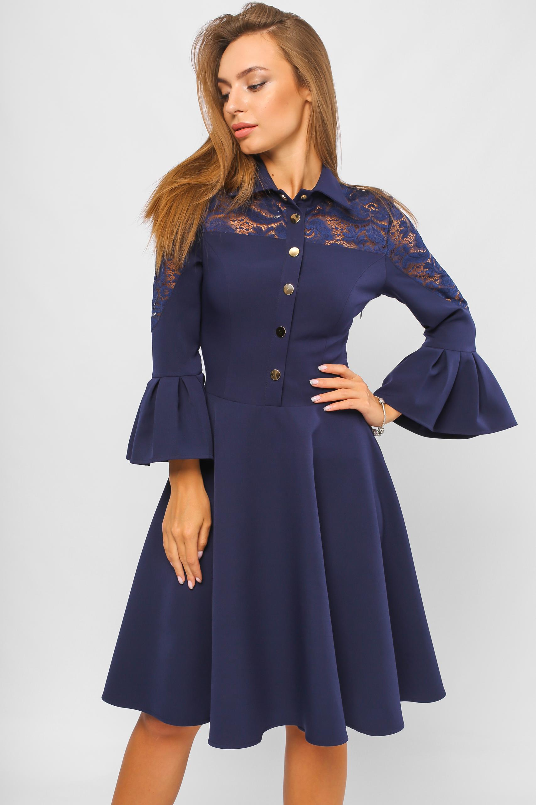 Сукня на кнопках Синя Lipar