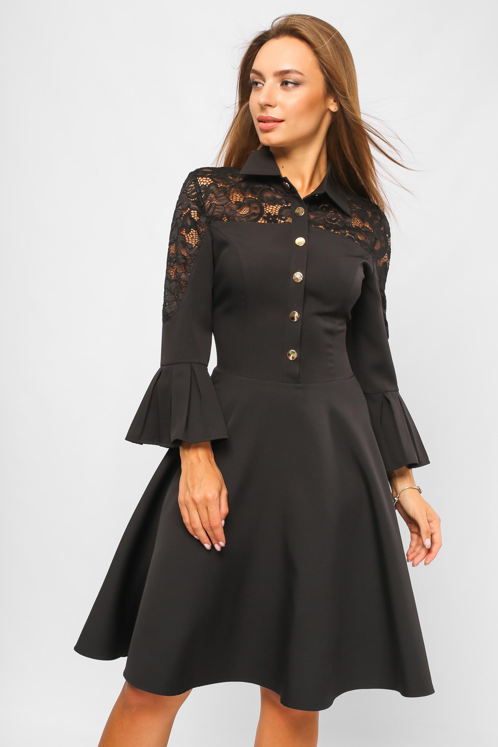Сукня на кнопках Чорна Lipar