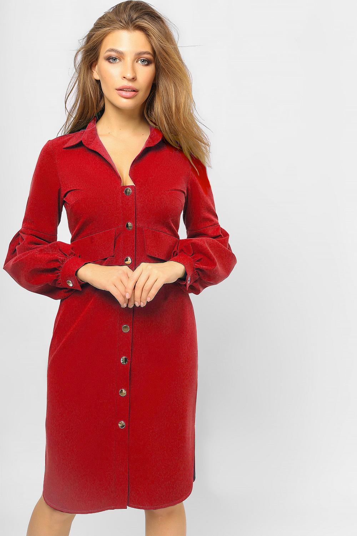 Сукня-сорочка з 'ліхтариками' Червона Lipar