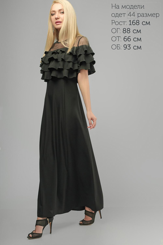 Сукня з воланами Чорна Lipar