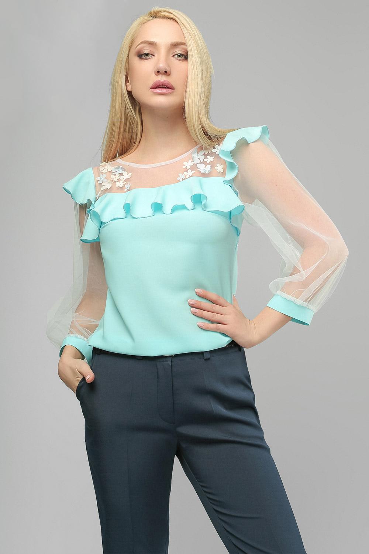 Блуза шовкова Блакитна Lipar