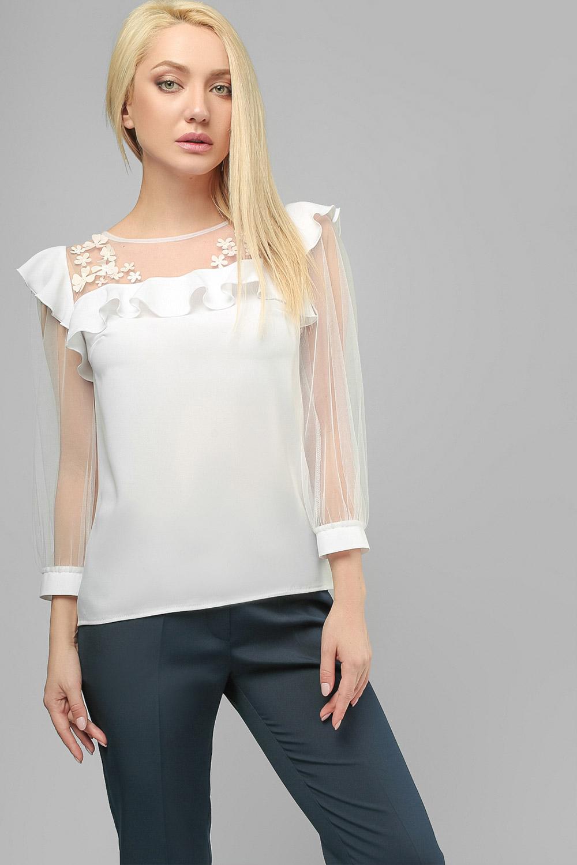 Блуза шовкова Біла Lipar