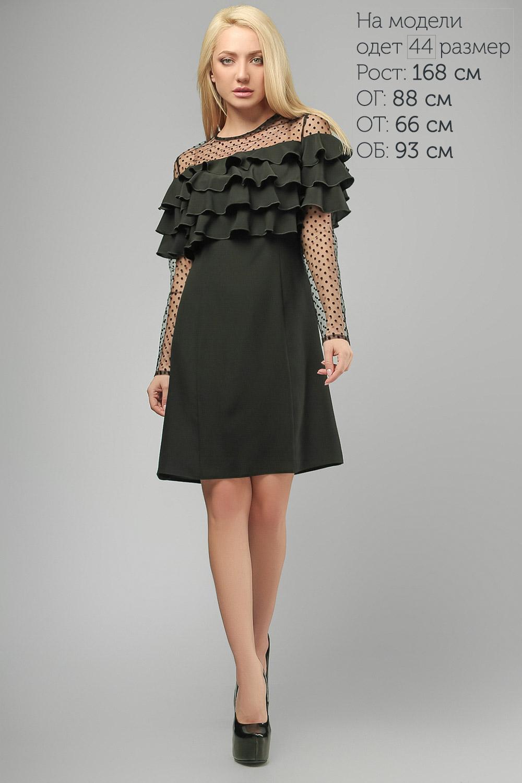 Сукня на кокетці Чорна Lipar