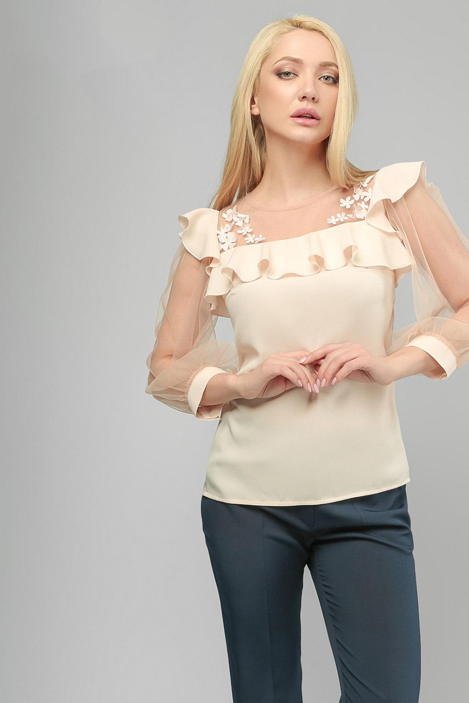 Блуза шовкова Пудра Lipar