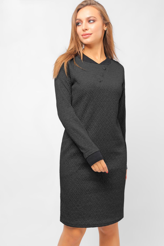 Сукня на манжетах Темно-Сіра Lipar