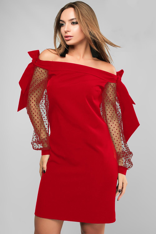 Сукня з відкритими плечима Червона Lipar