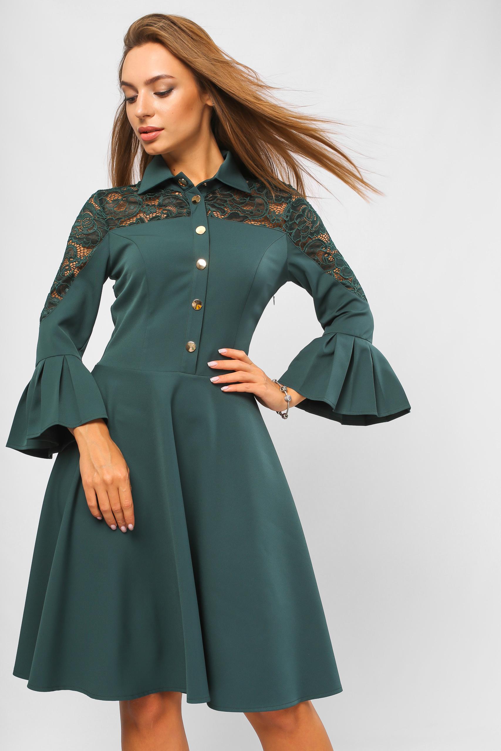 Сукня на кнопках Зелена Lipar