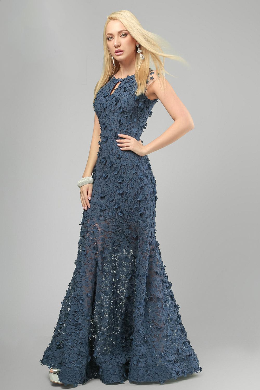 Сукня вечірня рибка Синя Lipar