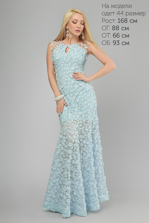 Сукня вечірня рибка Блакитна Lipar