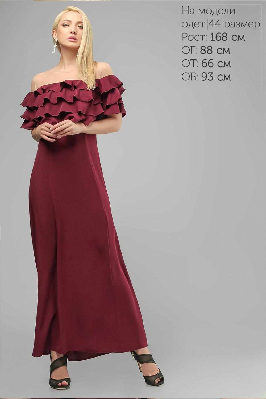 Сукня з воланами Бордова Lipar