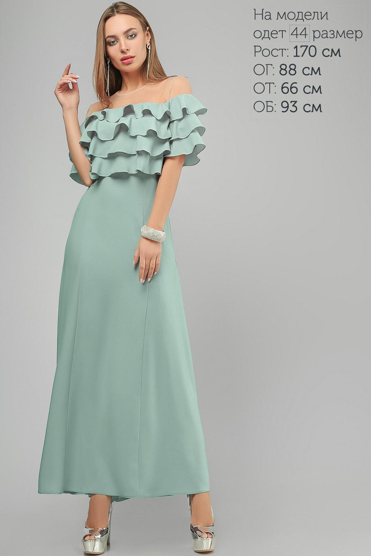 Сукня з воланами Блакитна Lipar