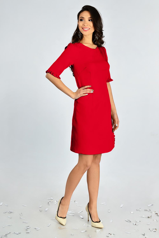 Сукня романтична з рюшів Червона Lipar