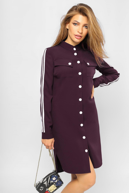Сукня-сорочка з лампасами Марсала Батал Lipar