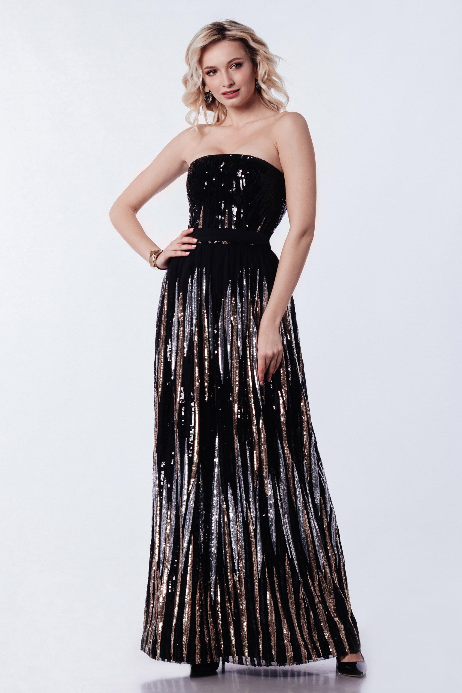 Платье вечернее ''вечерний дождь'' Черное 3366