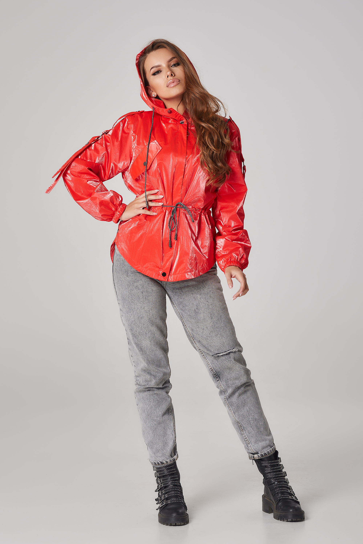 Куртка-вітровка на кулісі Червона Батал Lipar