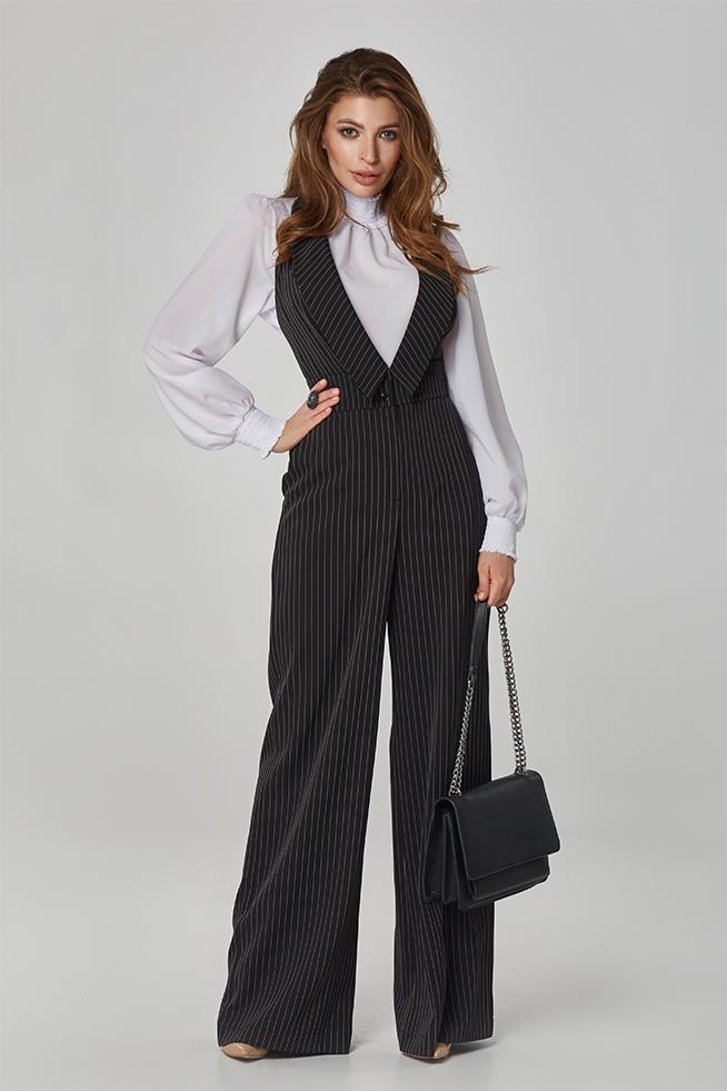 Комбінезон з брюками смужка Чорний Lipar