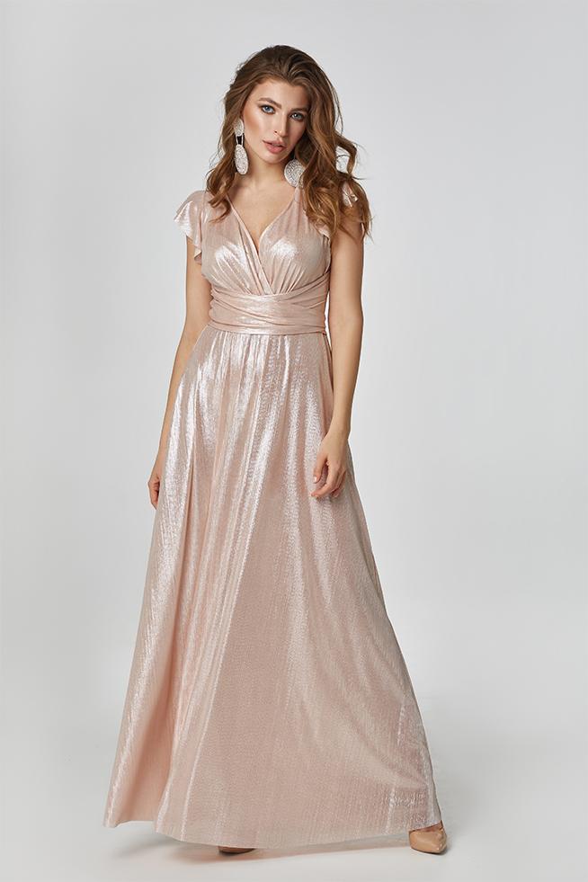 Вечернее платье Пудра 3426