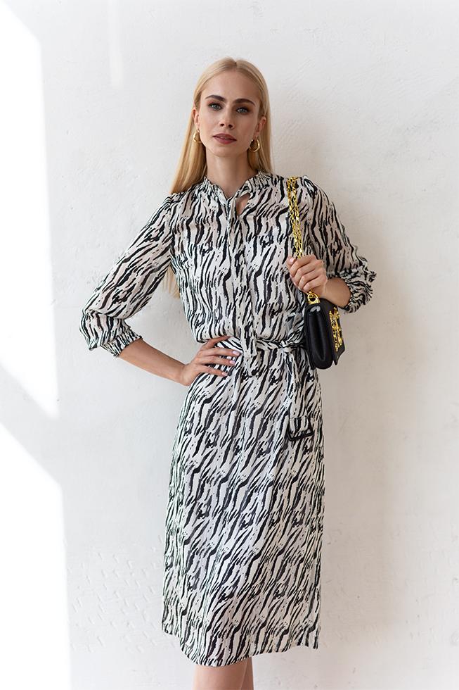 Сукня з зав'язкою бант Зебра Lipar