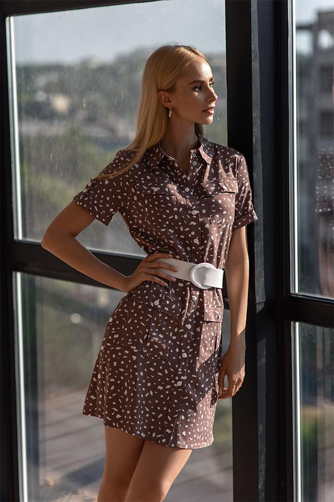 Сукня-рубашка з кнопками Капучіно Lipar