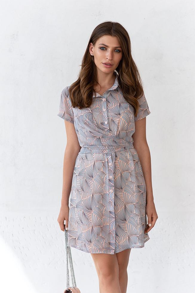 Сукня-рубашка з запахом Пудра Lipar