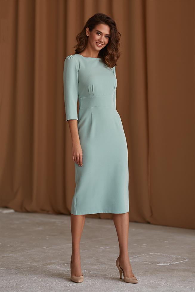 Платье приталенное классическое  Олива Lipar