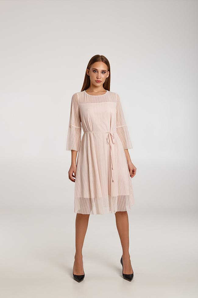 Платье праздничное с добалвением блеска Розовое  Lipar