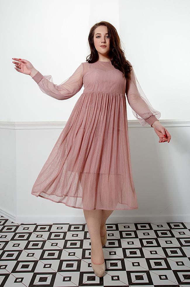 Платье вечернее с двухшаровой юбкой  Фрез  Lipar