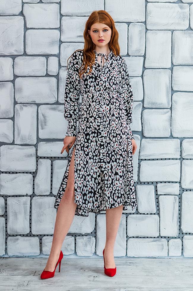 Сукня з розрізами та асиметрією Чорна Lipar